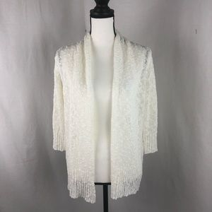 FEVER cream knit cardigan 3/4 sleeves small